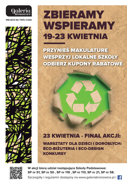 Great waste paper collection at Galeria Bronowice