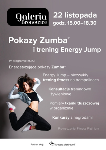 Zumba show and energy jump training session